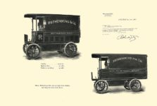 1903 The Vehicle Equipment Co. ELECTRIC VEHICLES HIGH GRADE ELECTRIC AUTOMOBILES PLEASURE VEHICLES COMMERCIAL VEHICLES VEHICLE EQUIPMENT COMPANY The RAINIER COMPANY, General Sales Agents New York, New York 11″x7.25″ page 37