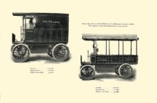 1903 The Vehicle Equipment Co. ELECTRIC VEHICLES HIGH GRADE ELECTRIC AUTOMOBILES PLEASURE VEHICLES COMMERCIAL VEHICLES VEHICLE EQUIPMENT COMPANY The RAINIER COMPANY, General Sales Agents New York, New York 11″x7.25″ page 38