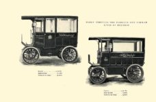 1903 The Vehicle Equipment Co. ELECTRIC VEHICLES HIGH GRADE ELECTRIC AUTOMOBILES PLEASURE VEHICLES COMMERCIAL VEHICLES VEHICLE EQUIPMENT COMPANY The RAINIER COMPANY, General Sales Agents New York, New York 11″x7.25″ page 39