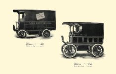 1903 The Vehicle Equipment Co. ELECTRIC VEHICLES HIGH GRADE ELECTRIC AUTOMOBILES PLEASURE VEHICLES COMMERCIAL VEHICLES VEHICLE EQUIPMENT COMPANY The RAINIER COMPANY, General Sales Agents New York, New York 11″x7.25″ page 51