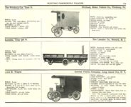 1910 ELECTRIC COMMERCIAL WAGONS. PITTSBURG LANSDEN GENERAL VEHICLE CO MoToR's 1910 MoToR CAR DIRECToRY Published By MoToR, New York 10″x7.25″ page 165