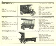 1910 ELECTRIC COMMERCIAL WAGONS. LANSDEN GENERAL VEHICLE CO PITTSBURG MoToR's 1910 MoToR CAR DIRECToRY Published By MoToR, New York 10″x7.25″ page 168