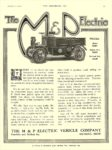 1912 10 2 M & P Electric Truck The M & P Electric THE M & P ELECTRIC VEHICLE COMPANY Detroit, MICH THE HORSELESS AGE October 2, 1912 8.75″x12″ page 39