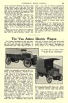 1913 11 ELECTRIC Truck Article 1913 VAN AUKEN Electric Truck The Van Auken Electric Wagon Van Auken Electric Car Company Connersville, IND AUTOMOBILE TRADE JOURNAL November 1913 6.25″x10″ page 233