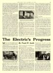 1914 1 Electric Car ARTICLE The Electric's Progress By Frank W. Smith COLLIER'S January 1914 10.25″x14.75 page 25