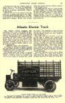 1914 ca. ATLANTIC Electric Truck Atlantic Electric Truck Atlantic Vehicle Company New York, New York AUTOMOBILE TRADE JOURNAL ca. 1914 6.25″9.75″ page 167