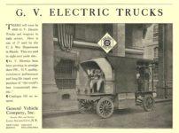 1914 1 3 G. V. Electric Truck G. V. ELECTRIC TRUCKS General Vehicle Company, Inc. Long Island City, New York Scientific American January 3, 1914 10.75″x7.75″