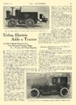 1914 2 5 URBAN Electric Truck Urban Electric Adds a Tractor Kentucky Wagon Mfg. Co. Louisville, KY THE AUTOMOBILE February 5, 1914 8.25″x12″ page 391