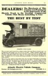 1916 2 ATLANTIC Electric Truck ATLANTIC 5-TON CHASSIS DEALERS! THE BEST BY TEST Atlantic Electric Vehicle Company Newark, New Jersey AUTOMOBILE TRADE JOURNAL February 1916 6.25″10″ page 295