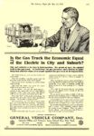 1916 5 27 G. V. Electric Truck Is the Gas Truck the Economic Equal GENERAL VEHICLE COMPANY, Inc. Long Island City, New York The Literary Digest May 27, 1916 8.75″x12″ page 1571