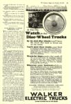 1923 10 20 WALKER Electric Truck Watch for these Disc-Wheel Trucks WALKER VEHICLE COMPANY Chicago, ILL The Literary Digest October 20, 1923 8″x11.75″ page 69