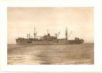 1945 8 ca. black & white photograph of the U.S.S. Lenawee APA-195 Martin J. Ward USS Lenawee APA-195 ca. August 1945