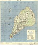 "1944 10 15 SPECIAL AIR and GUNNERY TARGET MAP IWO JIMA SECRET 12 Nov 1944 from photos of 15 Oct 1944 Battle: 19 February – 26 March 1945 20""x22.5"" Sheet 1 of 2"