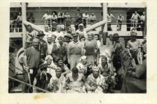 "1945 3 9 ""The Court shellback initiation March 9, 1945 Aboard USS Lenawee"" 3.5""x2.5"""