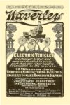 """1902 ca. WAVERLY Electric Vehicles """"40 Miles On One Charge"""" Indianapolis, Indiana VEHICLES 6.25″x9.5″ page 80"""