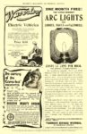 1901 WAVERLEY Electric Waverley Electric Vehicles $850 AMERICAN BICYCLE COMPANY WAVERLEY AUTOMOBILE DEP'T Indianapolis, IND Munsey's Magazine – Advertising Section 1901 6.25″x10″