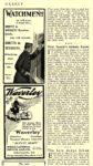 "1902 3 1 WAVERLEY Electric ""Waverley"" ""ALWAYS READY"" INTERNATIONAL MOTOR CAR CO. Waverley Department Indianapolis, IND HARPER's WEEKLY March 1, 1902 5.5″x9″"