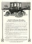 1910 10 WAVERLEY The Silent WAVERLEY Model 81 4-Passenger Brougham Motor October 1910 9.75″x14″ page 118
