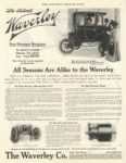 1910 1 WAVERLEY The Silent WAVERLEY Four-Passenger Brougham $2,250 = $53,488 in 2011 THE SATURDAY EVENING POST Jan 1911 10.5″x13.5″ page 1