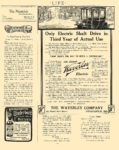 """1910 WAVERLEY Electric """"Now That's The Way To Build A Controller"""" The Waverley Company Indianapolis, IND LIFE 1910 8.5″x11″ page 675"""
