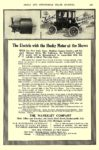 1911 1 WAVERLEY Electric The Electric with the Husky Motor THE WAVERLEY COMPANY Indianapolis, IND CYCLE AND AUTOMOBILE TRADE JOURNAL January 1911 6.5″x9.75″ page 159