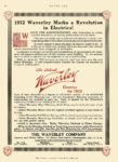 1912 8 24 WAVERLEY Electric Marks a Revolution in Electrics! The Waverley Company Indianapolis, Indiana MOTOR AGE Aug 24, 1911 8.5″x12″ page 52