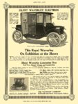 1912 2 1 WAVERLEY Electric This Royal Waverley THE WAVERLEY COMPANY Indianapolis, IND MOTOR AGE February 1, 1912 8.25″x11.75″ page 120