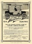 1912 9 28 WAVERLEY Electric THIS CAR CROWNS SIXTEEN YEARS OF ELECTRIC CARRIAGE BUILDING The Waverley Company Indianapolis, IND MOTOR AGE September 28, 1911 8″x11.75″ page 53