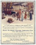1912 12 14 WAVERLEY Electric Silent Electric Limousine-Five Full Equipped $3,500 = $81,999 in 2012 The Waverley Company Indianapolis, Indiana LIFE Dec. 14, 1911 Cut 8″x10″