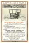 1914 ca. WAVERLEY Electric DESIGNED FOR COMFORT THE WAVERLEY COMPANY Indianapolis, IND SCRIBNER'S MAGAZINE ADVERTISER ca. 1914 6.75″x10″ page 44