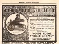 1900 ca. WOODS MOTOR VEHICLE CO Any Stable SCRIBNER'S MAGAZINE ADVERTISER 6.5″x4.75″