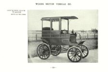 ca. 1903 WOODS Woods Motor Vehicle Co. CHICAGO & NEW YORK ELECTRIC CARRIAGES COUNTRY CLUB WAGON – Style No. 266 7.75″5.25″ folded page 10