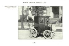 ca. 1903 WOODS Woods Motor Vehicle Co. CHICAGO & NEW YORK ELECTRIC CARRIAGES BROUGHAM CAB – Style No. 227 7.75″5.25″ folded page 12
