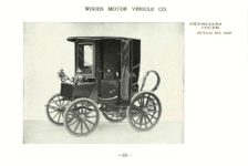 ca. 1903 WOODS Woods Motor Vehicle Co. CHICAGO & NEW YORK ELECTRIC CARRIAGES PHYSICIANS COUPE – Style No. 267 7.75″5.25″ folded page 13