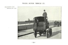 ca. 1903 WOODS Woods Motor Vehicle Co. CHICAGO & NEW YORK ELECTRIC CARRIAGES HANSON CAB – Style No. 248 7.75″5.25″ folded page 14