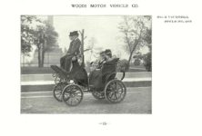 ca. 1903 WOODS Woods Motor Vehicle Co. CHICAGO & NEW YORK ELECTRIC CARRIAGES NO. 2 VICTORIA – Style No. 203 7.75″5.25″ folded page 15