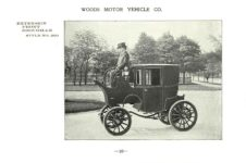 ca. 1903 WOODS Woods Motor Vehicle Co. CHICAGO & NEW YORK ELECTRIC CARRIAGES EXTENSION FRONT BROUGHAM – Style No. 260 7.75″5.25″ folded page 16