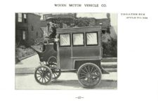 ca. 1903 WOODS Woods Motor Vehicle Co. CHICAGO & NEW YORK ELECTRIC CARRIAGES THEATRE BUS – Style No. 244 7.75″5.25″ folded page 17