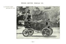 ca. 1903 WOODS Woods Motor Vehicle Co. CHICAGO & NEW YORK ELECTRIC CARRIAGES LANDAU (Open) – Style No. 241 7.75″5.25″ folded page 18