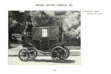 ca. 1903 WOODS Woods Motor Vehicle Co. CHICAGO & NEW YORK ELECTRIC CARRIAGES LANDAU (Closed) – Style No. 241 7.75″5.25″ folded page 19