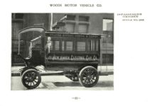 ca. 1903 WOODS Woods Motor Vehicle Co. CHICAGO & NEW YORK ELECTRIC CARRIAGES 18-PASSENGER OMNIBUS – Style No. 205 7.75″5.25″ folded page 21