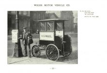 ca. 1903 WOODS Woods Motor Vehicle Co. CHICAGO & NEW YORK ELECTRIC CARRIAGES U. S. MAIL PICKUP WAGON – Style No. 26 7.75″5.25″ folded page 23