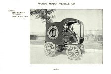 ca. 1903 WOODS Woods Motor Vehicle Co. CHICAGO & NEW YORK ELECTRIC CARRIAGES HOOD DELIVERY WAGON – Style No. 269 7.75″5.25″ folded page 26