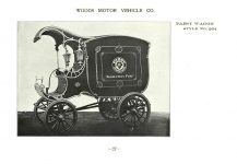 ca. 1903 WOODS Woods Motor Vehicle Co. CHICAGO & NEW YORK ELECTRIC CARRIAGES PABST WAGON – Style No. 264 7.75″5.25″ folded page 27