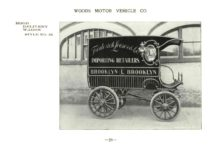 ca. 1903 WOODS Woods Motor Vehicle Co. CHICAGO & NEW YORK ELECTRIC CARRIAGES HOOD DELIVERY WAGON – Style No. 31 7.75″5.25″ folded page 28