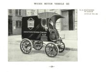 ca. 1903 WOODS Woods Motor Vehicle Co. CHICAGO & NEW YORK ELECTRIC CARRIAGES U. S. EXPRESS WAGON – Style No. 29 7.75″5.25″ folded page 29