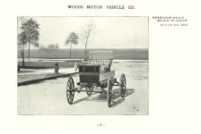 ca. 1903 WOODS Woods Motor Vehicle Co. CHICAGO & NEW YORK ELECTRIC CARRIAGES SPINDLE SEAT ROAD WAGON – Style No. 224 7.75″5.25″ folded page 3
