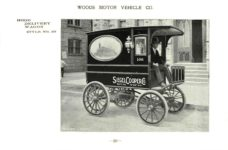 ca. 1903 WOODS Woods Motor Vehicle Co. CHICAGO & NEW YORK ELECTRIC CARRIAGES HOOD DELIVERY WAGON – Style No. 30 7.75″5.25″ folded page 30