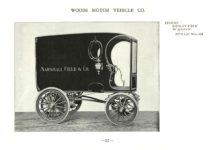 ca. 1903 WOODS Woods Motor Vehicle Co. CHICAGO & NEW YORK ELECTRIC CARRIAGES HOOD DELIVERY WAGON – Style No. 33 7.75″5.25″ folded page 31