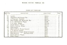 ca. 1903 WOODS Woods Motor Vehicle Co. CHICAGO & NEW YORK ELECTRIC CARRIAGES INDEX OF VEHICLES 7.75″5.25″ folded page 35